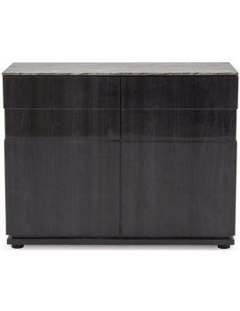 Donatella Grey Marble 2 Door Narrow Sideboard