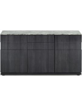 Donatella Grey Marble 3 Door Wide Sideboard