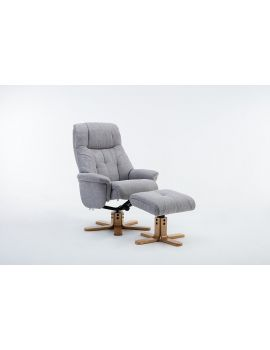 Emirates Swivel Chair & Stool Lisbon Silver