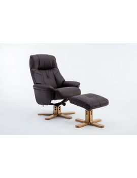 Emirates Swivel Chair & Stool Plush Brown