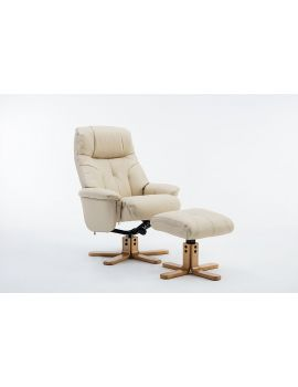 Emirates Swivel Chair & Stool Plush Cream