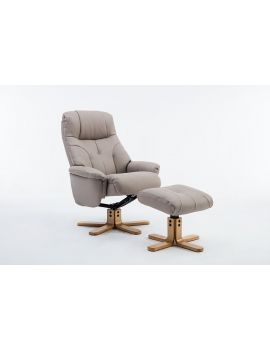 Emirates Swivel Chair & Stool Plush Pebble