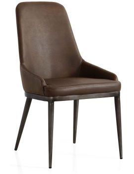 Industrial Dining Chair Retro Contour Vintage PU