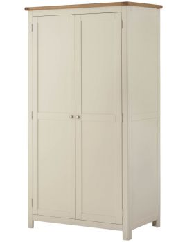 Portland Cream 2 Door Wardrobe
