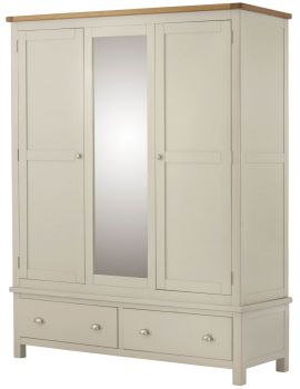Portland Cream Triple Wardrobe