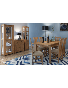Portland Oak Extending Dining Table & 6 Chairs Set