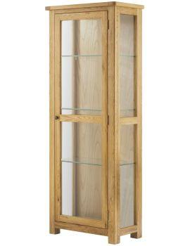 Portland Oak Glazed Display Cabinet