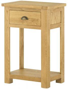 Portland Oak Small Console Table