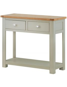 Portland Stone 2 Drawer Console Table