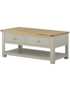 Portland Stone Coffee Table With Drawers