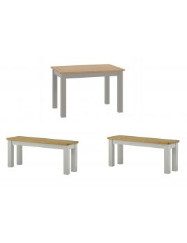 Portland Stone Dining Table & 2 Benches