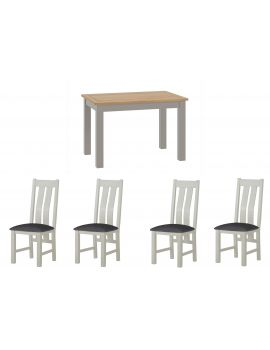 Portland Stone Dining Table & 4 Chairs Set