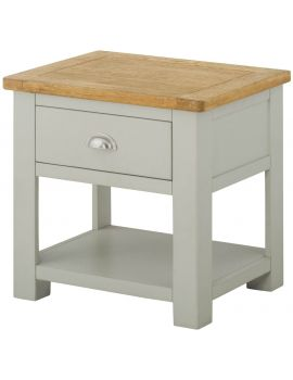 Portland Stone Lamp Table With Drawer