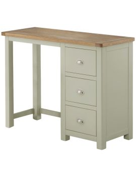 Portland Stone Single Ped Dressing Table