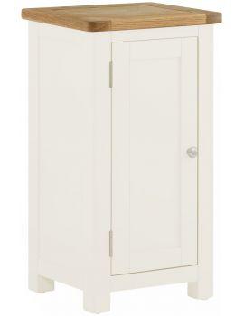 Portland White 1 Drawer Cabinet