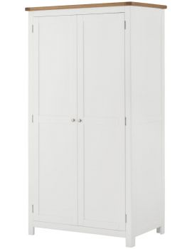 Portland White 2 Door Wardrobe