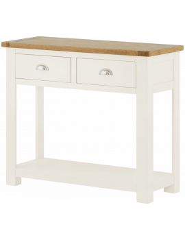 Portland White 2 Drawer Console Table