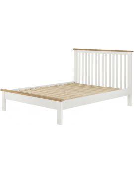 Portland White Double Bedframe