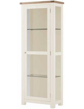 Portland White Glazed Display Cabinet