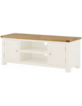 Portland White Large Tv Unit