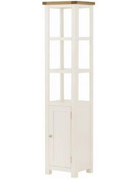 Portland White Shelf With Cupboard