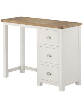 Portland White Single Ped Dressing Table