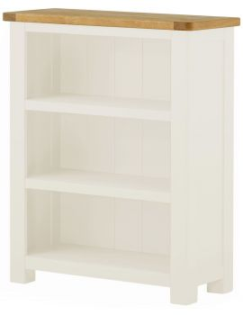 Portland White Small Bookcase