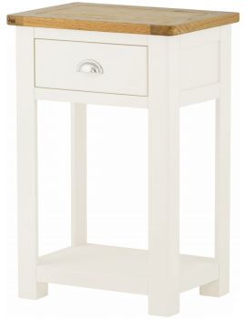 Portland White Small Console Table