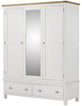 Portland White Triple Wardrobe