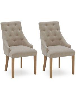 Vida Living Hobbs Beige Linen Dining Chair (Pair)