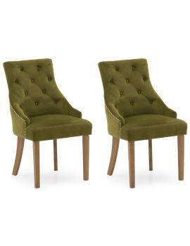 Vida Living Hobbs Green Moss Velvet Dining Chair (Pair)