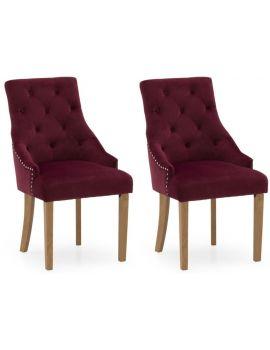 Vida Living Hobbs Red Crimson Velvet Dining Chair (Pair)