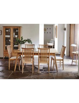 Ercol Teramo Medium Extending Dining Table & 6 Chairs Set