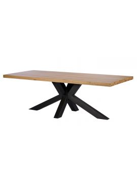 Finsbury Oak 240cm Hoxton Industrial Dining Table