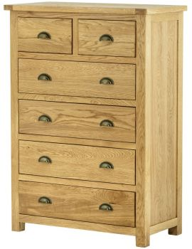 Portland Oak 2 Over 4 Chest