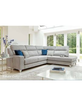 Salute Corner Group Fabric Sofa
