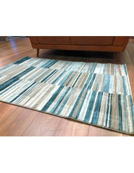 Velour GSF 115 x 170 cm Stripe Rug Blue
