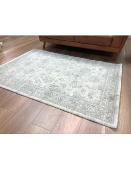 Vintage 120 x 170cm Grey White Thick Pile Rug
