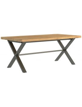 Wentwood Industrial Oak Large Dining Table