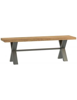 Wentwood Industrial Oak Small Bench