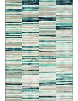 Westco 155 x 230 cm R220853 Stripe Velour Rug, Blue