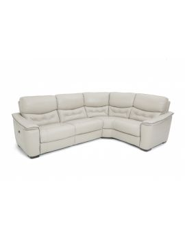 Zen Leather Large Corner Power Recliner Sofa Group