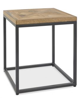 Indus Rustic Oak Lamp Table