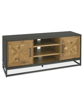 Indus Rustic Oak & Peppercorn Entertainment Unit