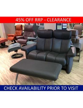 Stressless Clearance Legend 2 Seater & Bench Stool Paloma