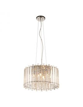 E13 5 Light Crystal Ceiling Pendant
