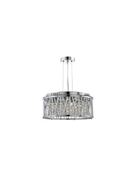 S6 4 Light Crystal Ceiling Pendant Polished Chrome