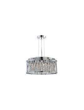 S6 4 Light Crystal Ceiling Pendant Polished Chrome