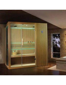 Kubix Home Sauna - Hemlock Finish - 1750 x 1200 x 2100mm