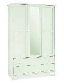 BENTLEY DESIGNS ATLANTA WHITE TRIPLE WARDROBE